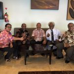 Powes Parkopi and Papuan Leaders